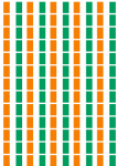 Ivory Coast Flag Stickers - 65 per sheet